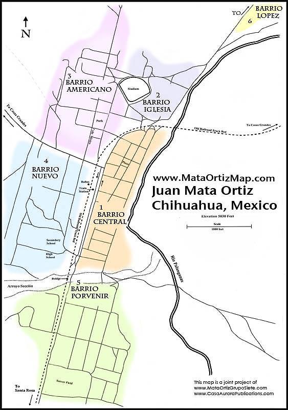 Mata Ortiz Map