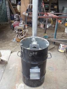 rocket stove open